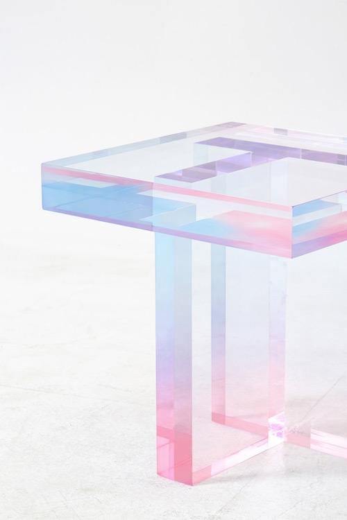 La revue du design blog archive tables cristal par saerom yoon - Resine epoxy cristal ...