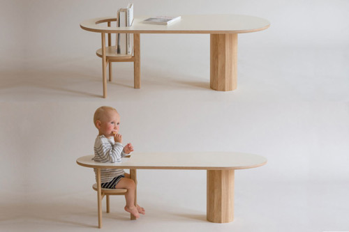 La revue du design blog archive une table basse - Chaise bebe qui s accroche a la table ...