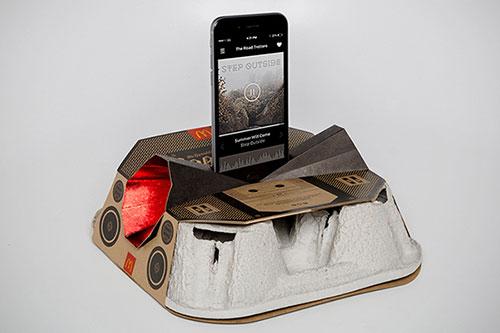 Mcdonald's Boombox, un projet qui transforme les porte-gobelet...